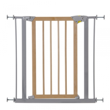 Детские ворота безопасности hauck Deluxe Wood and Metal Safety Gate, Silver
