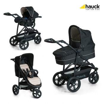 Коляска 3 в 1 hauck Rapid 3 Plus Trio Set, Caviar Beige