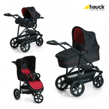 Коляска 3 в 1 hauck Rapid 3 Plus Trio Set, Caviar Tango