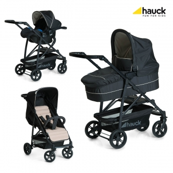 Коляска 3 в 1 hauck Rapid 4 Plus Trio Set, Caviar Beige