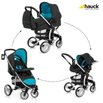 Коляска 3 в 1 hauck Malibu XL All in One, Stone / Aqua