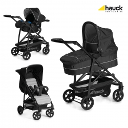 Коляска 3 в 1 hauck Rapid 4 Plus Trio Set, Caviar Silver