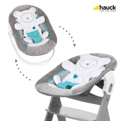 Шезлонг Alpha Bouncer 2-in-1, Hearts-Grey