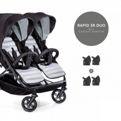Коляска для погодок и двойни hauck Rapid 3R Duo Silver/Charcoal