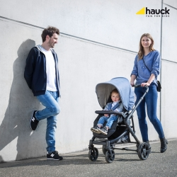 Коляска 3 в 1 hauck Atlantic Plus Trio Set, Melange Jeans/Caviar
